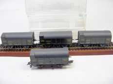 Trix H0 - 4 x 24303 - 4 freight cars for peat transport of the K.Bay.Sts.B