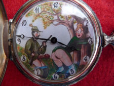 Anonimo – Erotic pocket watch with sexual image.