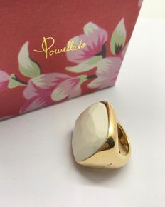 Pomellato - 'Victoria' ring in 18 kt gold with white opal - Size: 16.63 mm