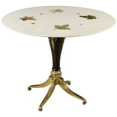 Unknown designer - Table with inlaid marble surface