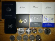 World – Lot of international coins (18 pieces) – including silver