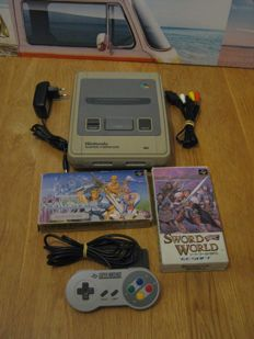 Japanese Super famicom + 2 games like Sword World
