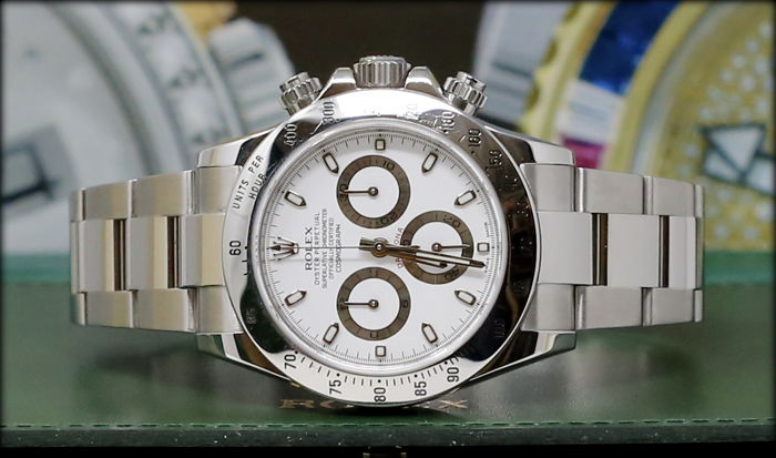 rolex daytona 116520 like new full set white herren. Black Bedroom Furniture Sets. Home Design Ideas
