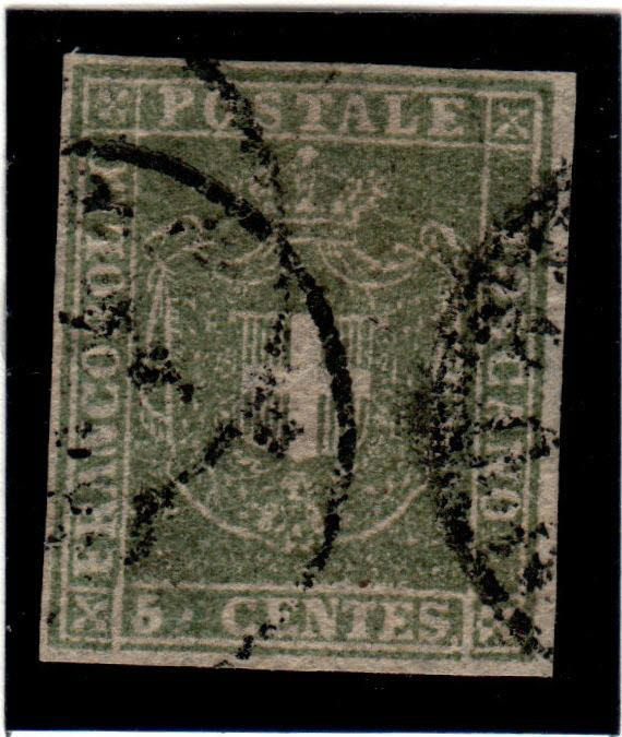 Tuscany 1857/1860 - Provisional Government, selection of stamps