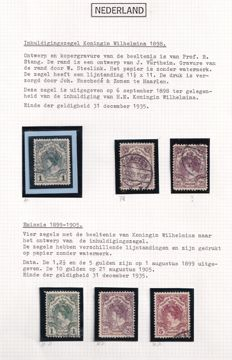 """The Netherlands 1898/1921 - collection of, among others, the """"Fur Collar"""" type"""