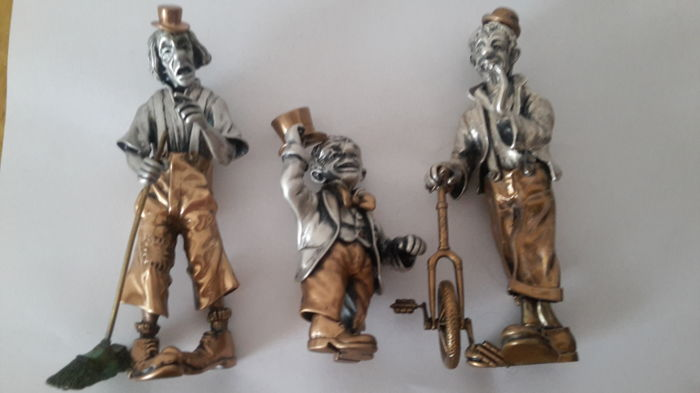 Three spectacular miniatures signed Angini. Made in Italy