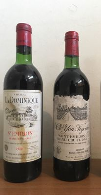 1973 Chateau La Dominique & 1976 Chateau Yon Figeac, Saint-Emilion Grand Cru Classé - 2 bottles