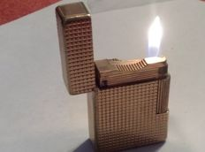 S.T.Dupont Paris lighter - gold plated, line 1 B S - working