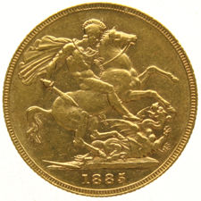 Australie - Sovereign 1885-M Victoria - Or
