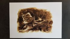 Juapi - Art Print - Coffee drawing - The Hulk