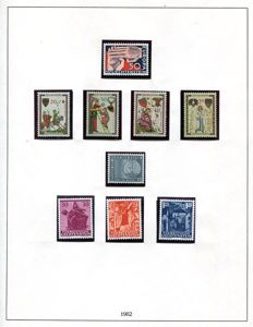Liechtenstein 1962/1982 - collection on printed leaves.