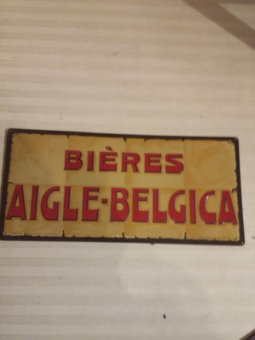 Emaille bord Bieres Aigle Belgica Plakkaat 2 (1960-1977)