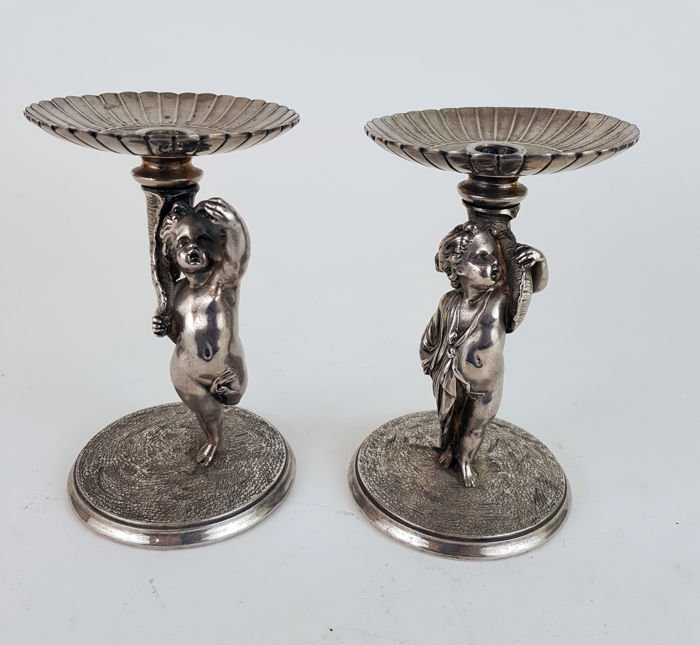 19th century Victorian Silver Plated candle sticks