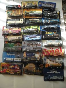 Collection with 58 tank semi-trailer trucks / advertising trucks 1/87 mint condition almost all in original package