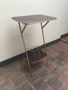 Unknown producer - mid-century faux bamboo vinyl table