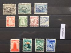 The Netherlands 1921/1938 - Selection of stamps and series