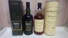 2 bottles - Ardbeg Uigeadail 2011 and Balvenie 12 years old Doublewood