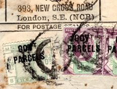Great Britain 1892 - Govt Parcels , Parcel Post Label - Stanley Gibbons O62