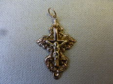 Antique rose gold cross Baroque