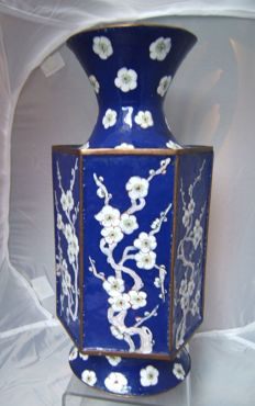 Canton enamel vase 28cms - China - second half 20th century