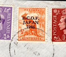 Australia Occupation Japan 1946 - BCOF Overprints - Combination GB KGVI Franking