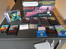 Game Boy boxed + Nintendo Nes boxed with 6 games