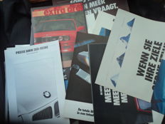 30x BMW catalogue, folders, brochures and 17 original factory photos from the 80s/90s