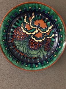 Zuid-Holland - Polychrome ceramics wall plate - Design by Leen Muller