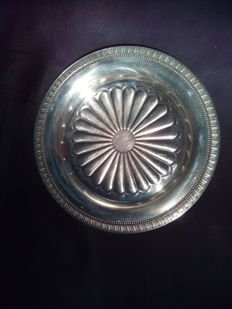 Silver Plated Plate, Christofle, France, 1983, Marked
