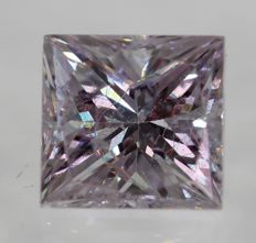 0.39 ct, VS2, Top Light Pink, princess, VG/VG low reserve