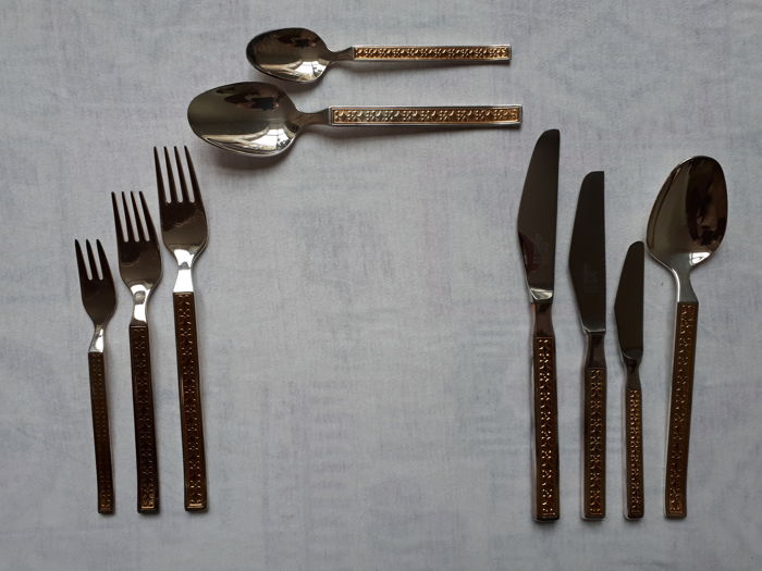 Drache - Cutlery Comtesse 45, Heavily silver-plated cutlery, 87 pieces, for 8 persons