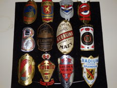 Collection of 12 Nice Bicycle Head Badges with some Rare ones including - Schippers and Het Rendier and others