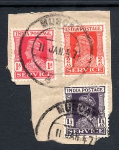 India, Muscat 1948 - Arabian Gulf States, India KGVI issues