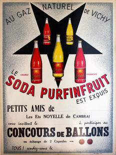 Anonymous - Soda Purfinfruit, concours Ballons - 1950s