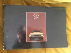 Catalogue Citroen SM signed Delpire - September 1971