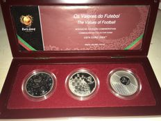 Portugal – €8 from 2003 – UEFA EURO 2004 'The Values of Football' – 3 Coins – silver