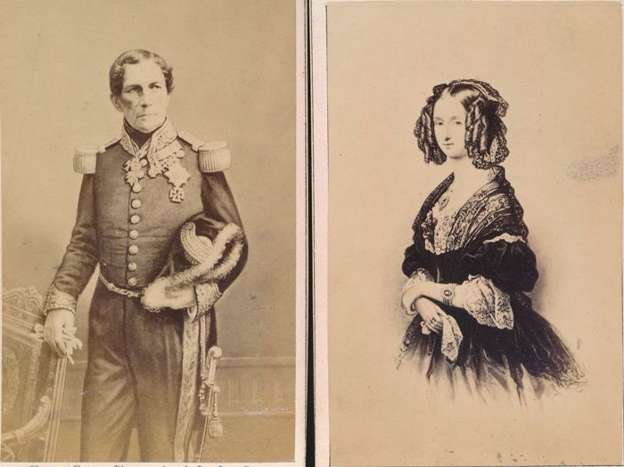 Ghemar Frères (XIX) - Leopold I, King of the Belgians & Marie Louise d'Orleans Queen of the Belgians