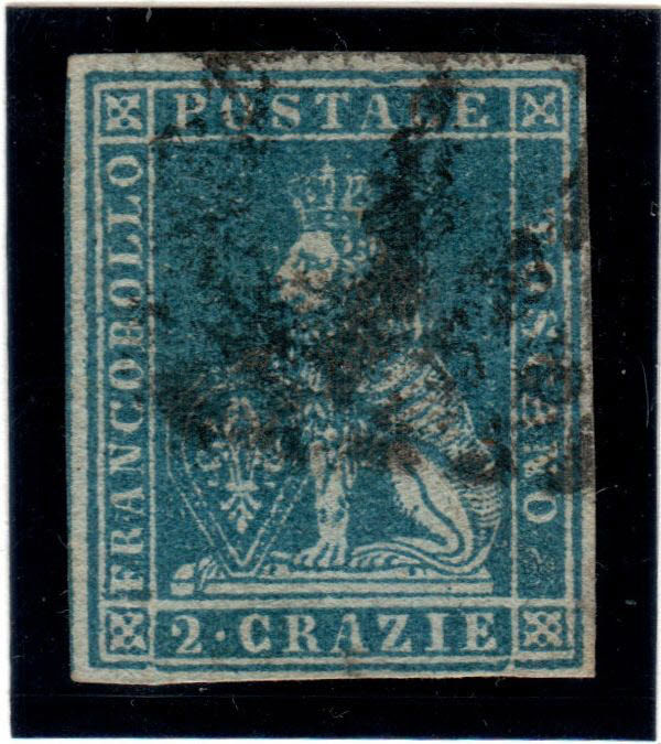 Tuscany 1851 - Selection of first issue stamps