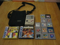 Nintendo Classic Gameboy including 15 original games 2 boxed. Games like: Teris 1+2, Junglebook, hook, Mickey mouse, etc