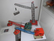 Gama/Joustra, Germany/France - 2 x excavators and 1 crane, approx. from the 60s