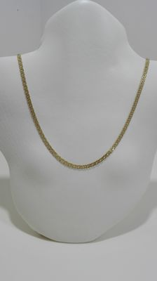 18 kt (750) Gold Necklace, Double Rhombus type link, Weight: 9.96 g, Size: 63 cm