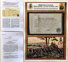 Italy - Regno delle Due Sicilie - Reali Finanze Capitale Franchi Cento issued during the siege of Gaeta on 20 October 1860