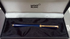 Mont Blanc - Noblesse Oblige - fountain pen - dark blue resin and gold trims