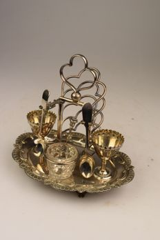 "Luxury silver plated ""toast rack"" - 20th century - England"