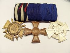 German Reich:  Clasp with 3 medals/awards