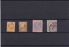 The Netherlands 1864/1896 - selection of 4 stamps - NVPH 6, 12, 29, 48