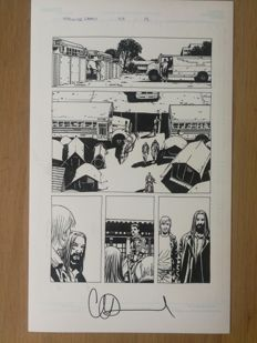 Charlie Adlard - Walking Dead - Original Comic Art - Inked Page - Issue #108 - Page 13 - (2013)