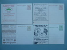 The Netherlands 1924/1927 - Four private printed pieces of postal stationary