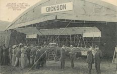 Aviation - Lot of 4 old postcards - of the Aviator Bertram DICKSON - born on 21 December 1873 in Edinborough