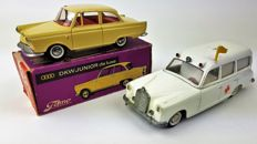 Tekno - Scale 1/43 - DKW Junior de luxe nor. 727 and Mercedes-Benz 220S Ambulance no. 731/732